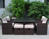 Footstoolが付いている一定の家具を食事するMtc017 4屋外の藤