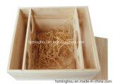 Kundenspezifischer natürlicher fester hölzerner Kasten für Wein-Speicher-Geschenk-Möbel