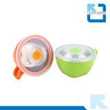 대중적인 한국 작풍 스테인리스 및 플라스틱 사발과 즉석 면 컵