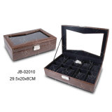 Elegante MDF Leather Watch Box met Window en Lock