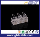 Plugue Gold-Plated do cristal Head/RJ45 Connectors/8p8c da rede de Cat5e