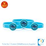 Wristband imprimido da forma do OEM silicone feito sob encomenda