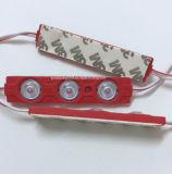 Модуль красного цвета в витринном освещении СИД