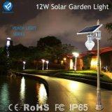 Luz de calle solar al aire libre del jardín de la luz solar del melocotón del precio de fábrica 9W 12W