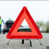 太陽トラフィックの交通標識の緊急の警告の三角形