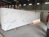 Laje artificial projetada venda por atacado da pedra de quartzo de China 20mm Calacatta para a bancada da cozinha