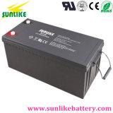 Батарея 12V200ah геля глубокого цикла Китая солнечная для солнечной силы