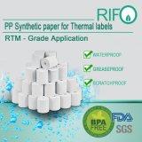 Três etiquetas de bilhetes de prova por transferência térmica BOPP FDA autenticado