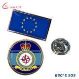 Venda por atacado redonda do emblema do Pin da bandeira da UE do costume