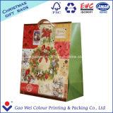 Bolsa de papel de encargo de la Navidad de la suposición de la alta calidad