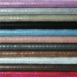 De Goede Snelheid van uitstekende kwaliteit van de Kleur maakte het Synthetische Leer van de Schoen van Pu in reliëf