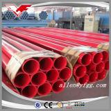Покрашенный красный цвет 6 дюймов калибровал каждую трубу бой пожара конца ERW стальную