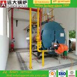 1ton 2ton 3ton 4ton drei Durchlauf-Feuer-Gefäß-nasses rückseitiges Öl und Gasdampfkessel