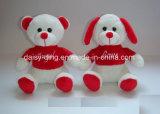 قطيفة [فلنتين] كلب مع [ت-شيرت] أحمر