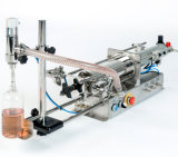 半自動空気の倍は天然水の液体の充填機の先頭に立つ