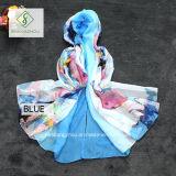 Nuova grande signora stampata Fashion Chiffon Silk Scarf dello scialle della spiaggia