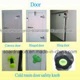 Sola puerta y cámara fría de la conservación en cámara frigorífica de la puerta doble