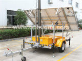 Preiswerter heller Aufsatz des nachladbaren pneumatischen teleskopischen des Mast-Aufbau-IP65 beweglichen Schlussteil-12V, beweglicher Solar-LED-heller Aufsatz