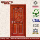Внутренне одиночная деревянная дверь для комнаты с конструкцией цветка (GSP2-061)