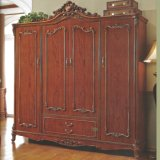غرفة نوم ثبت أثاث لازم مع خشبيّة سرير وخزانة ثوب
