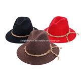 人のための最上質のウールのフェルトドイツ山の帽子のカーボーイ・ハット