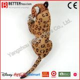 Juguetes realistas del leopardo de la felpa del animal relleno