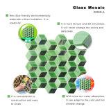 Neuer Entwurf befleckte grünes Glas-Mosaik-Fliese für Badezimmer Backsplash