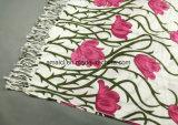 Mantón de acrílico impreso impreso flor de la base plana de la máquina (ABF22004012)