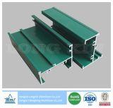 Het groene Poeder Met een laag bedekte Profiel van het Aluminium voor Vensters