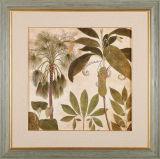Decoración para el hogar Flor de pared Pintura en marco de madera