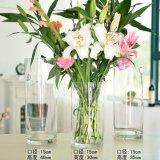 Vase grand à cylindre de vase à vase acrylique clair à mariage