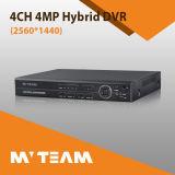 最もよいAhd Tvi IP CvbsのハイブリッドDVR 4MP 2560*1440 H 264 DVR 4CH (6404H400)