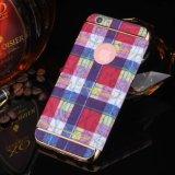 Cas de téléphone cellulaire plaquant la caisse dure en cristal de Chrom pour l'iPhone 7 6 4.7 positifs