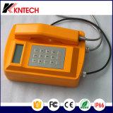 Téléphone imperméable à l'eau lourd IP66 Knsp-18LCD Kntech de Rubost de téléphone