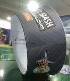 Bandera colgante publicitaria de interior del anillo de la tela de la tensión del techo del tubo fácil