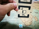 Identifikation-Chips UHFeinlegearbeit RFID versieht Kennsatz des Ausländer-H3 für den Karten-und Transport-Logistik-Gleichlauf mit Warnschild