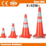Cono de tráfico de camino del color rojo de PVC