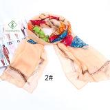 Lange gedruckte Mehrfarbendame Fashion Silk Scarf
