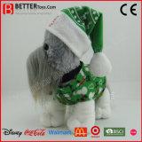 De promotie Hond van de Pluche van de Gift Gevulde Dierlijke Zachte Bevindende Stuk speelgoed in Doek