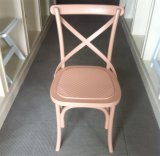 Weddingホールのための樹脂Cross Back Chair