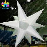 Finego Innendecke, die aufblasbares LED-Stern-Licht für Hochzeitsfest-Dekoration bekanntmacht