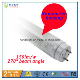 Nanômetro 150lm/W 270 iluminação da câmara de ar do diodo emissor de luz do ângulo de feixe 60cm do grau 9W T8