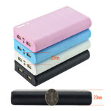 6000mAh Fashion Wallet Shape Power Bank 2 USB Mobile Charger