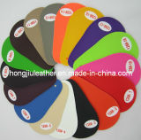 Couro artificial colorido do carro do PVC da fonte (128#)