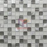 Mosaïque en aluminium de décoration de mur de modèle moderne de mélange en cristal (CFA87)