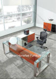 Scrivania esecutiva del CEO della nuova di disegno parte superiore di vetro Tempered (HF-SIA002)