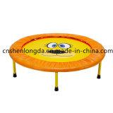 mini trampolino piegato di forma fisica di colore giallo del trampolino di ginnastica 38inch, trampolino dei bambini