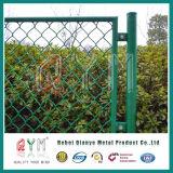 5 Fuss-grüner Plastiküberzogener Kettenlink-Draht-Zaun-Garten-Rand-Zaun