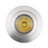 Aluminium GU10 MR16 LED enfoncée fixe ronde Downlight (LT2110A) de tour