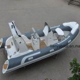 Barco inflável rígido luxuoso do reforço do barco de Liya 17ft com motor